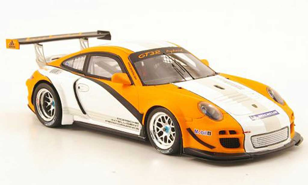 Porsche 997 GT3 R hybrid 1/43 Spark Prasentationsmodell 2010 miniature