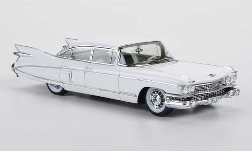 Cadillac Fleetwood Sixty 1/43 Spark Special Sedan white 1959 diecast model cars