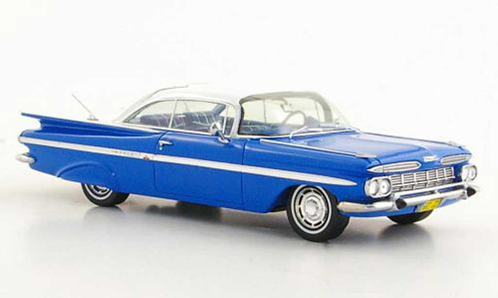 Chevrolet Impala 1959 1/43 Spark Coupe bleu/white diecast model cars