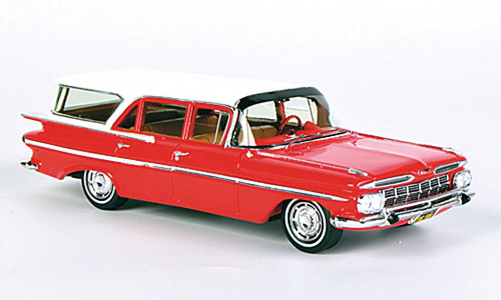 Chevrolet Impala 1959 1/43 Spark Station Wagon rouge/blanche 1959 miniature