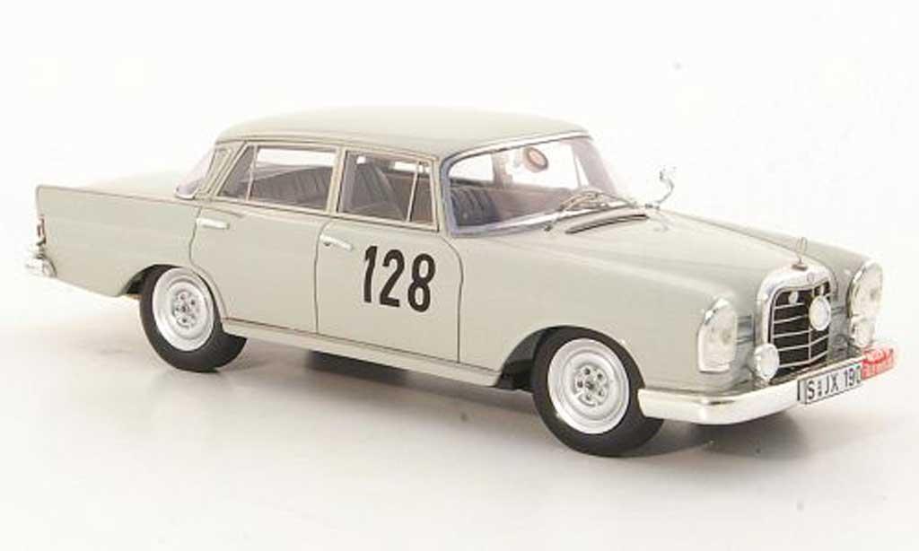 Mercedes 220 SE 1/43 Spark (W111) No.128 W.Schock / R.Moll Rally Monte Carlo 1960 miniature