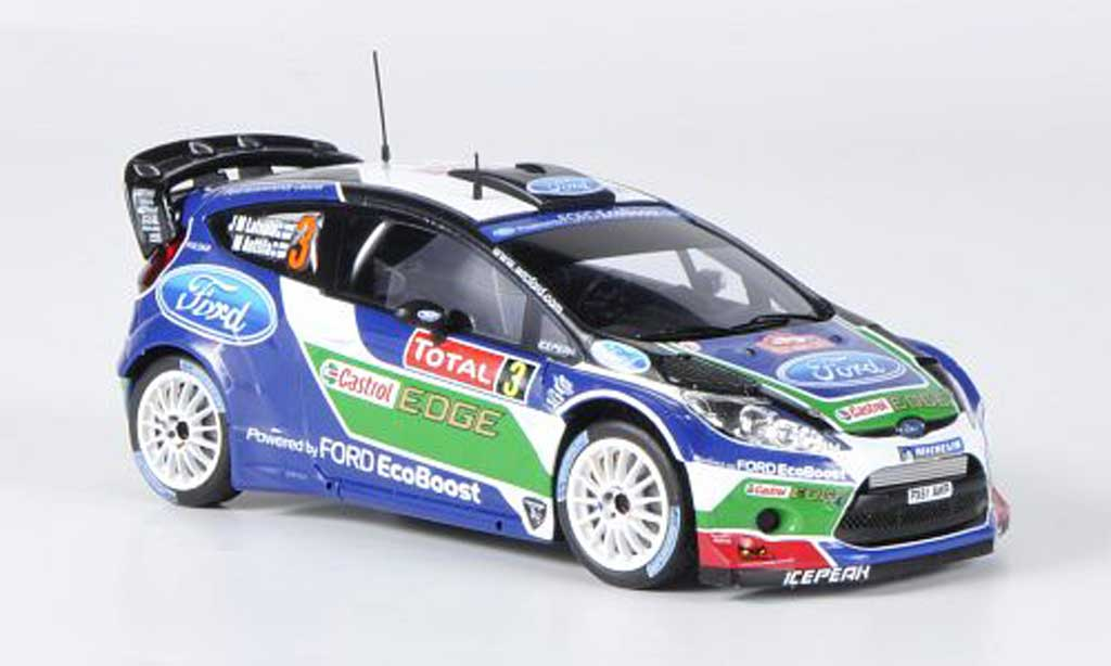 Ford Fiesta WRC 1/43 Spark  No.3 Castrol Rally Monte Carlo 2012 miniature