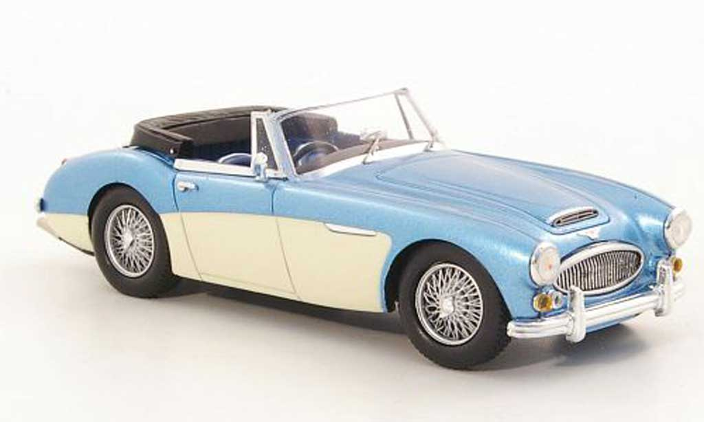 austin healey 3000 miniature mkiii bj8 bleu beige strassenversion rhd 1965 spark 1 43. Black Bedroom Furniture Sets. Home Design Ideas