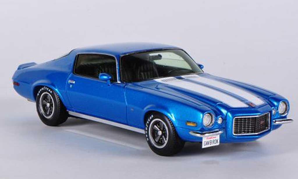 Chevrolet Camaro Z28 1/43 Spark bleu/blanche 1970 miniature