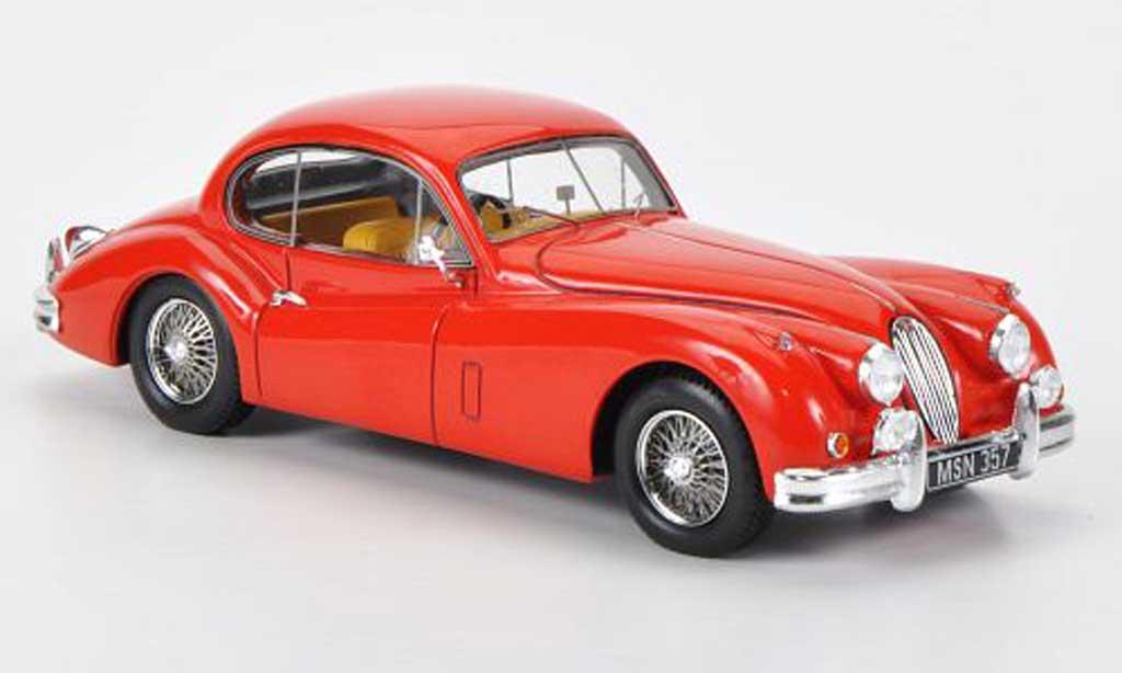 Jaguar XK 140 1/43 Spark FHC rouge RHD 1954 miniature