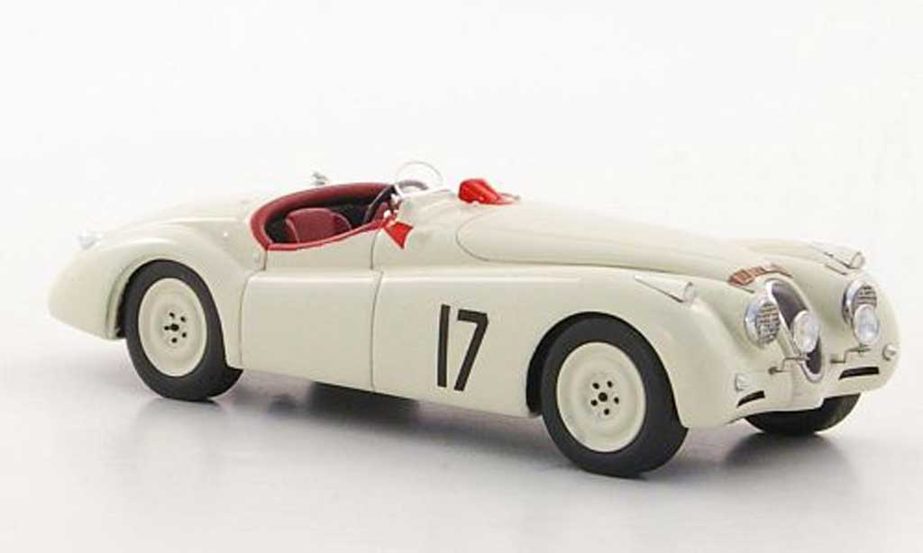 Jaguar XK 120 1/43 Spark No.17 L.Johnson / B.Hadley 24h Le Mans 1950 miniature