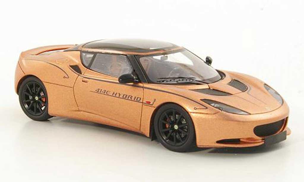 Lotus Evora 414E 1/43 Spark Hybird bronze 2010 miniature