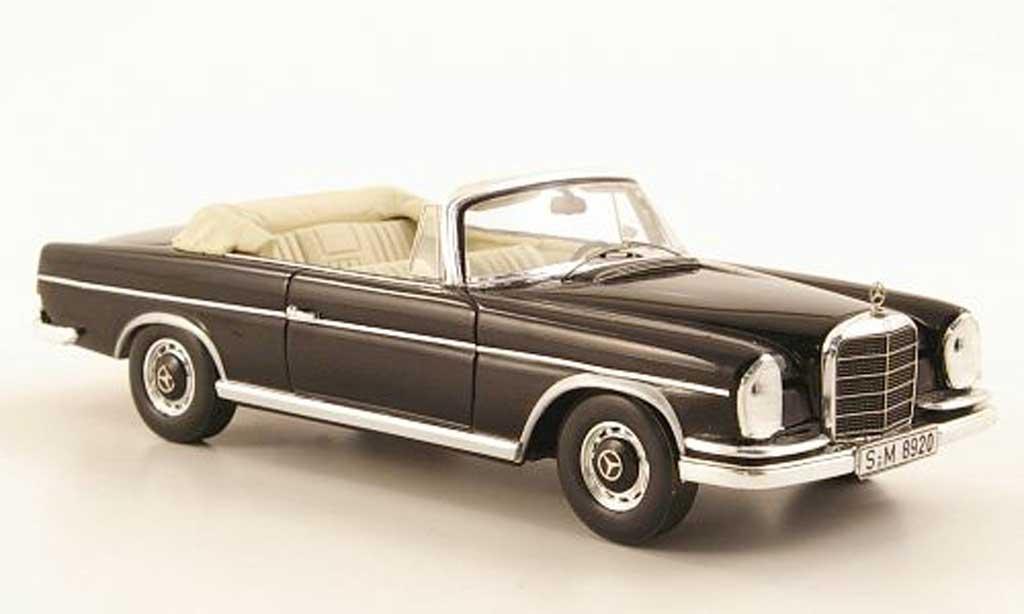 Mercedes 300 SE 1/43 Spark Cabriolet (W112/3) black 1963 diecast model cars