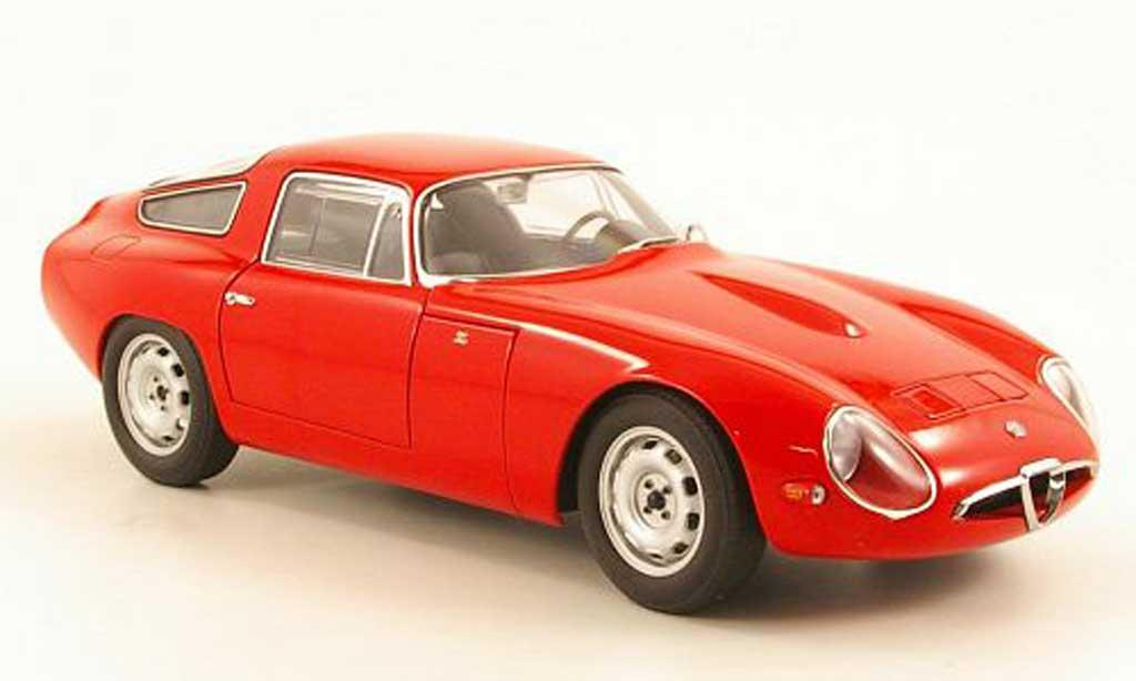 Alfa Romeo Giulia TZ1 1/18 Autoart rosso 1963 miniatura