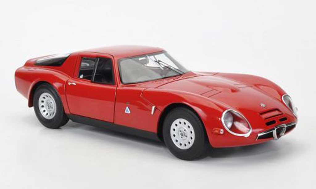 Alfa Romeo TZ2 1/18 Autoart rosso 1965 miniatura