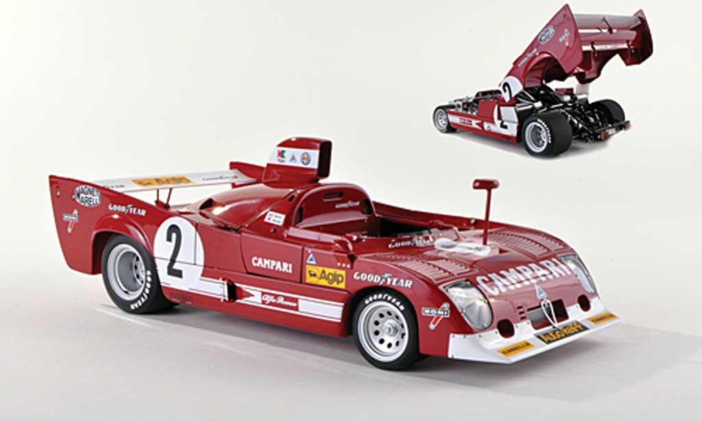 Alfa Romeo 33.3 1975 1/43 Autoart TT 12 No.2 Campari 1000km Spa Francorchamps Pescarolo/Bell miniatura