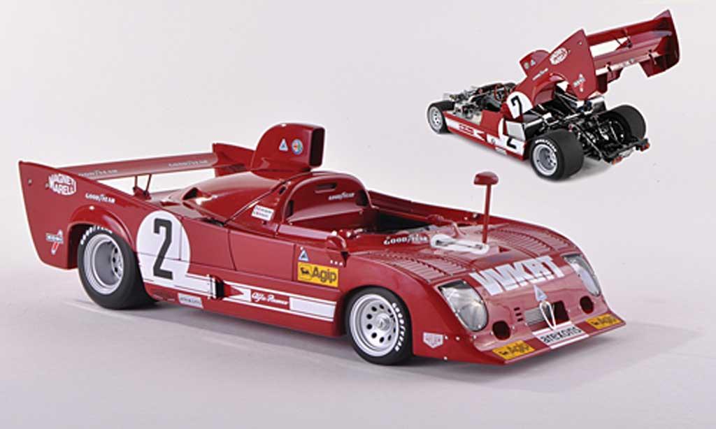 Alfa Romeo 33.3 1975 1/43 Autoart TT 12 No.2 WKRT 1000km Monza Merzario/Lafitte miniatura