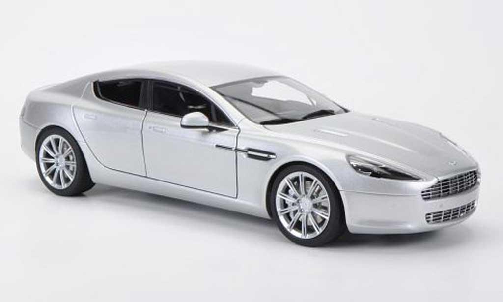 aston martin rapide miniature grise lhd 2010 autoart 1 18 voiture. Black Bedroom Furniture Sets. Home Design Ideas