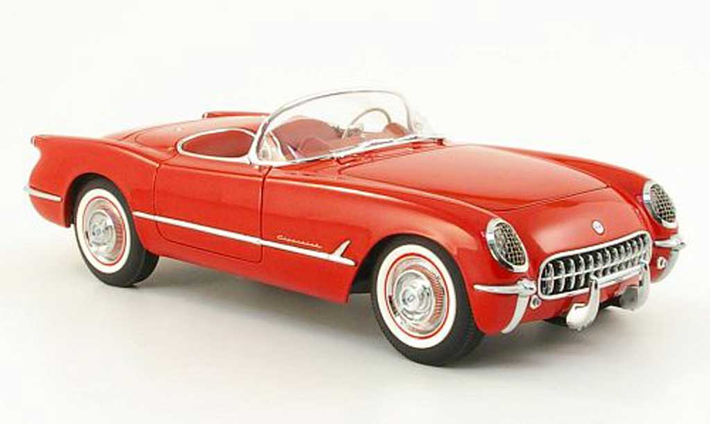 Chevrolet Corvette C1 1/18 Autoart red 1954 diecast model cars