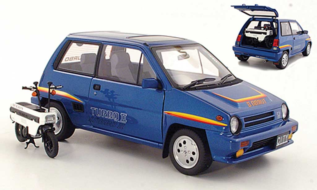 Honda City Turbo 1/18 Autoart II bleu 1983 diecast model cars