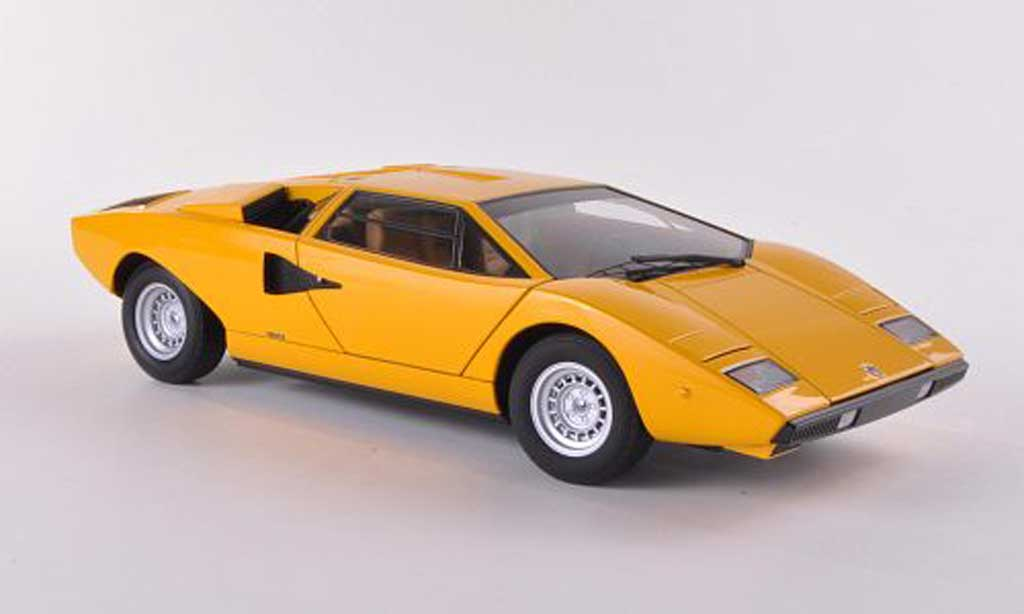 lamborghini countach lp 400 yellow 1974 autoart diecast model car 1 18 buy sell diecast car on. Black Bedroom Furniture Sets. Home Design Ideas
