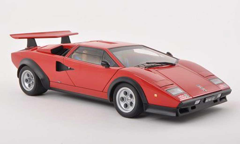 Lamborghini Countach LP 500 1/18 Autoart LP 500 S Walter Wolf Edition rouge 1975 miniature