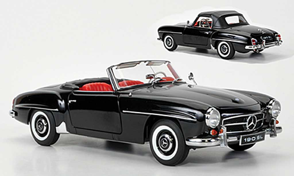 mercedes 190 sl schwarz autoart modellauto 1 18 kaufen. Black Bedroom Furniture Sets. Home Design Ideas