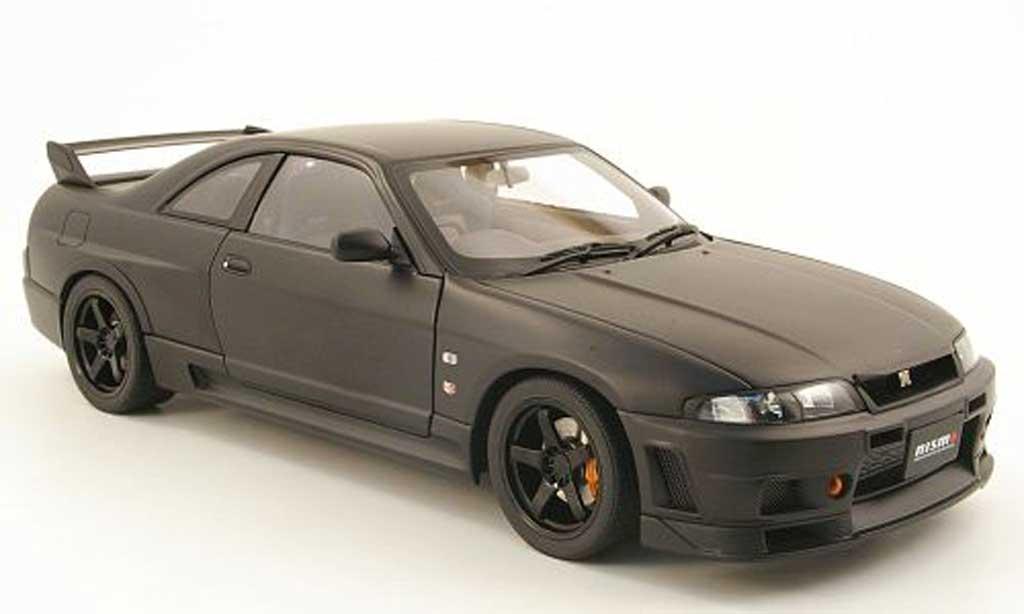 Miniature Nissan Skyline R33 gt-r r-tune noire mat 1996 Autoart. Nissan Skyline R33 gt-r r-tune noire mat 1996 miniature 1/18