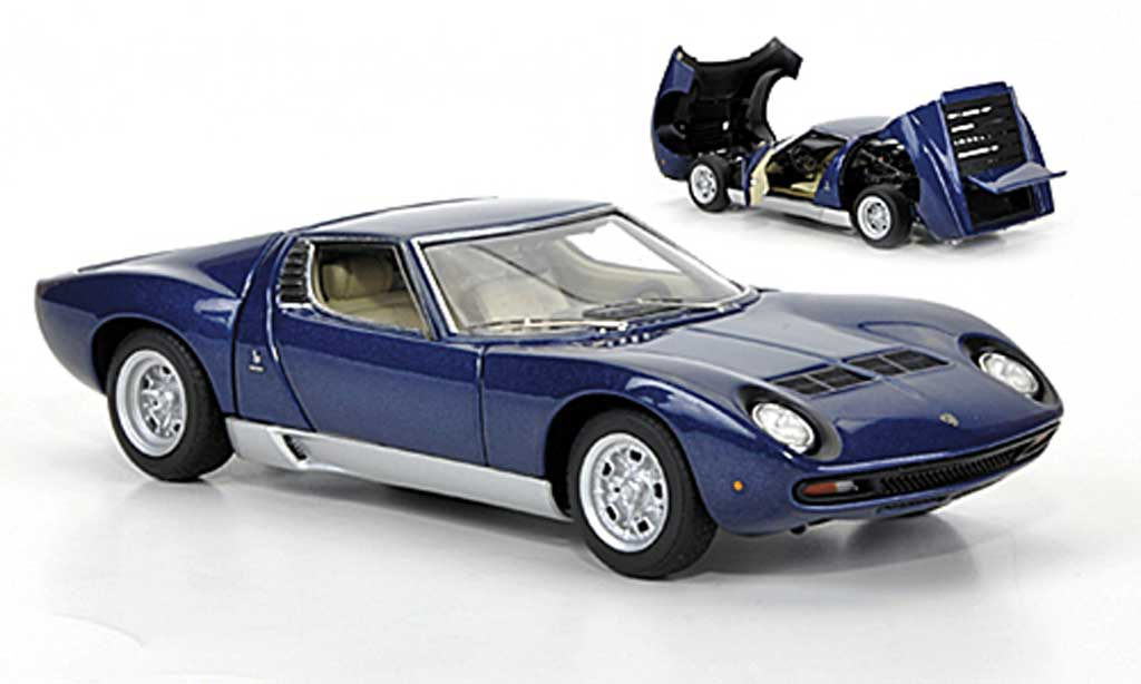 Lamborghini Miura SV 1/43 Autoart bleu 1971