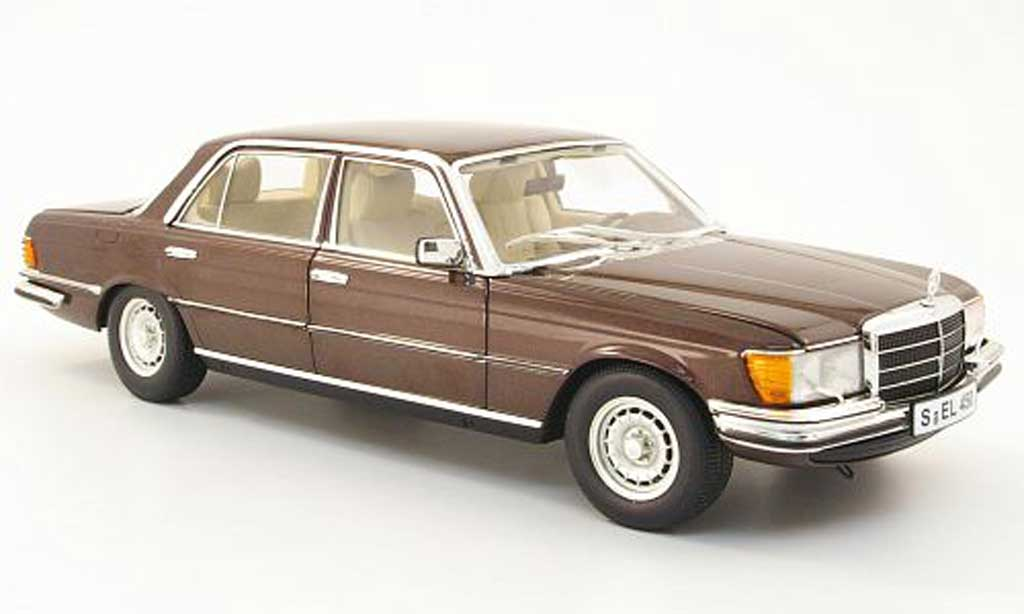 Mercedes 450 1/18 Revell sel (w116) marron miniature