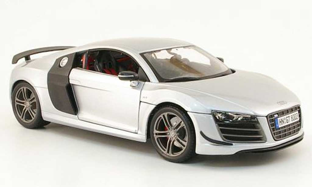 audi r8 gt miniature grise carbon maisto 1 18 voiture. Black Bedroom Furniture Sets. Home Design Ideas