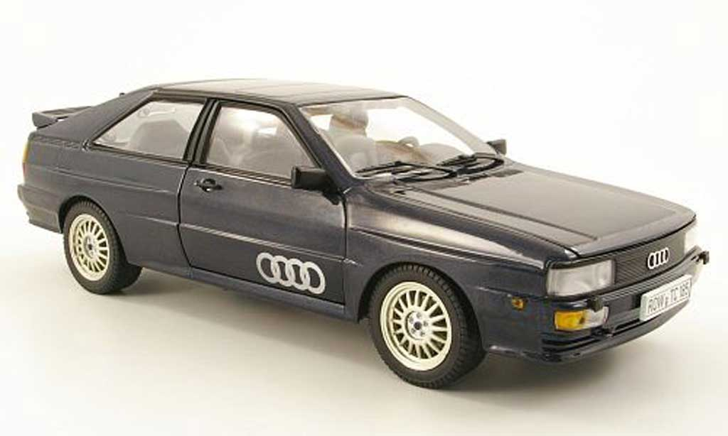 Audi Quattro 1/18 Sun Star bleu 1981 miniature