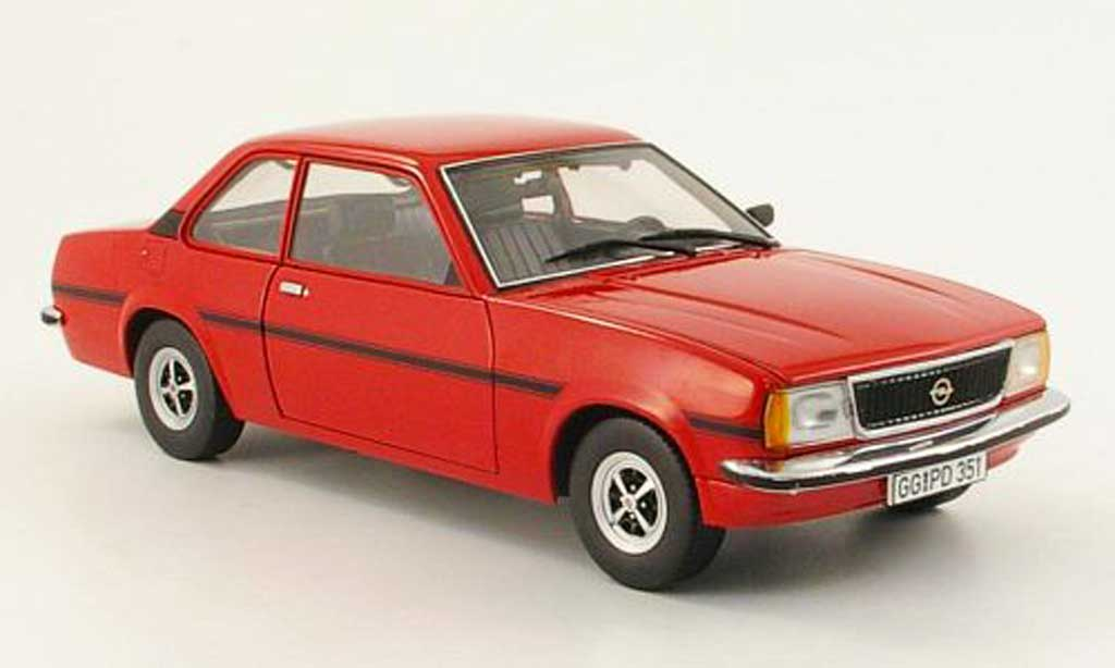 opel ascona b miniature sr rouge 1975 sun star 1 18 voiture. Black Bedroom Furniture Sets. Home Design Ideas