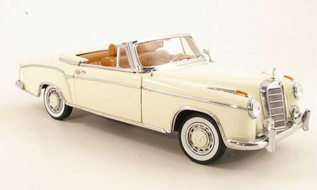 Mercedes 220 1/18 Sun Star SE Cabriolet (W128) bianco 1958 miniature