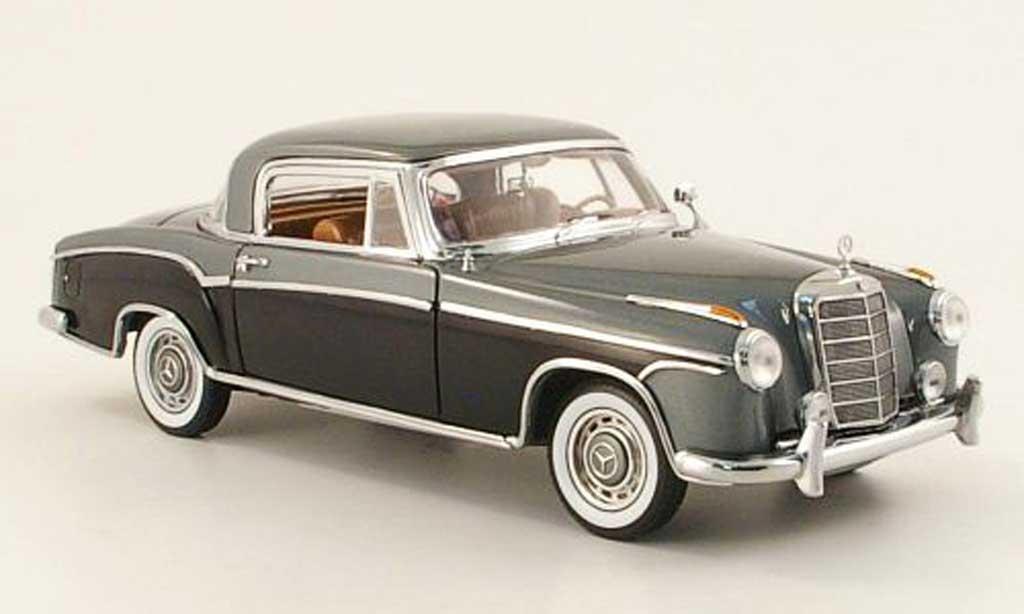 Mercedes 220 1/18 Sun Star se coupe (w 128) grise/noire 1958 miniature