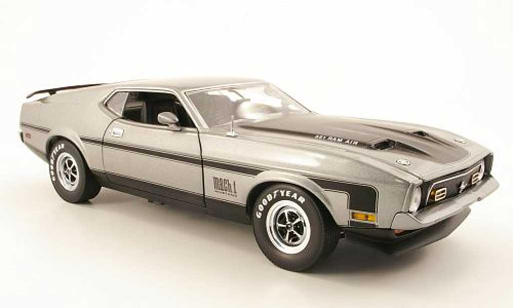 Ford Mustang 1971 1/18 Sun Star mach i gray diecast