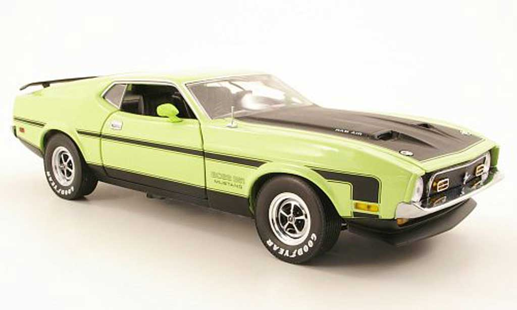 Ford Mustang 1971 1/18 Sun Star boss 351 verte miniature