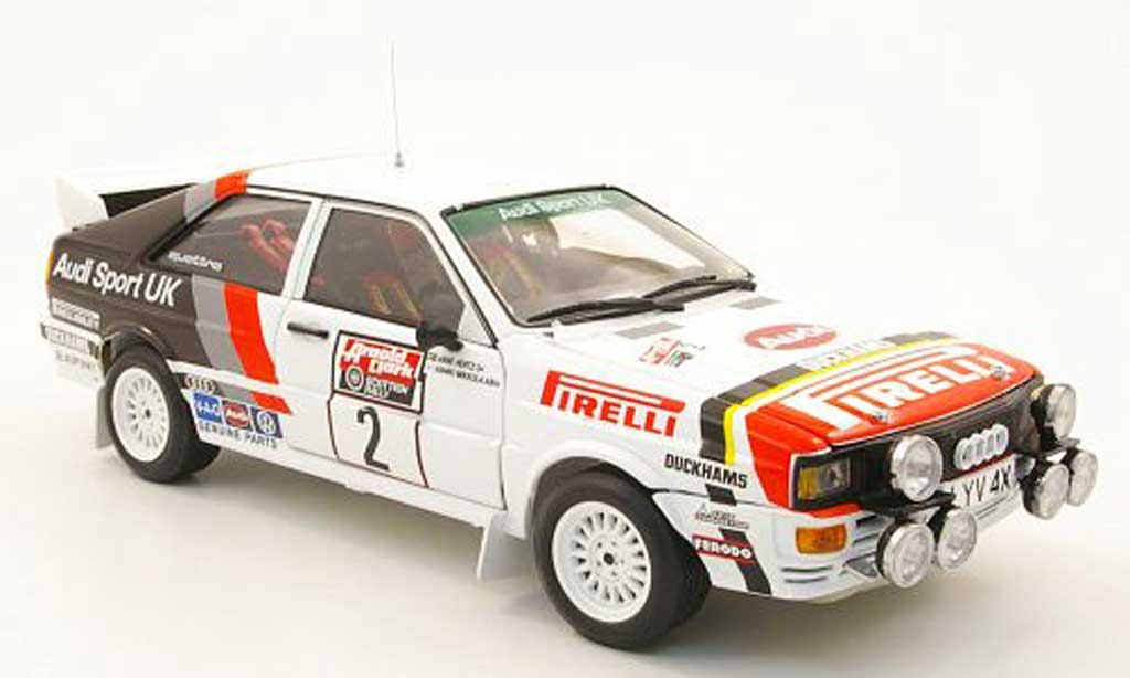 Audi Quattro Rallye 1/18 Sun Star no.2 audi sport uk rallye schottland 1982 h.mikkola / a.hertz miniature