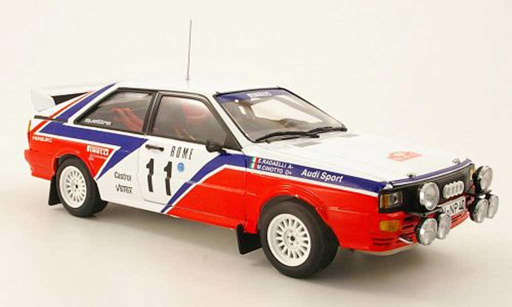 Audi Quattro Rallye 1/18 Sun Star No.11 R6 rallye Monte Carlo 1982 M.Cinotto/E.Radaelli miniature