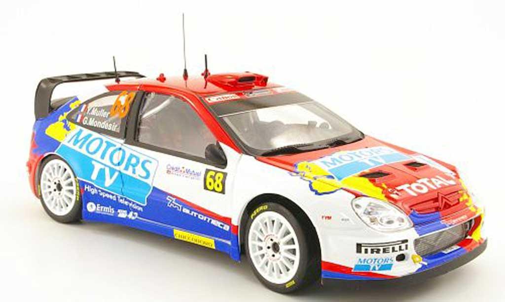 Citroen Xsara WRC 2010 1/18 Sun Star no.68 motors tv rallye frankreich y.muller / g.mondesir miniature