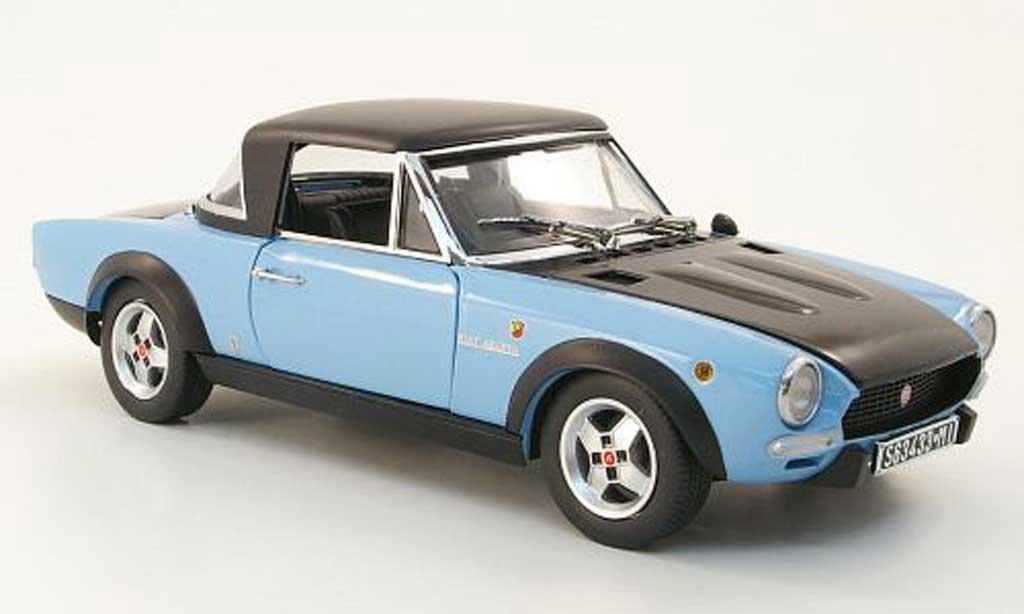 Fiat 124 Abarth 1/18 Sun Star spider csa bleu/black 1972 diecast model cars