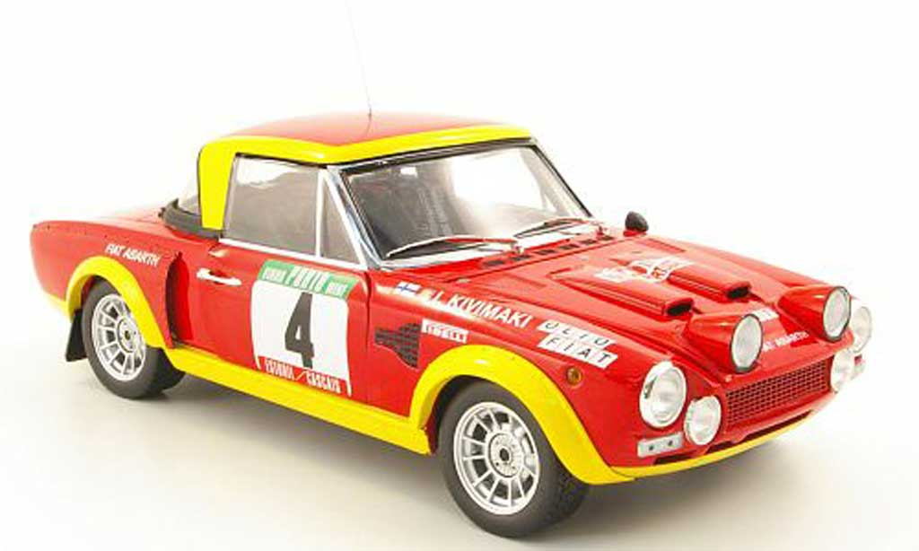 Fiat 124 Abarth 1/18 Sun Star Abarth no.4 olio fiat rallye portugal 1975 miniature