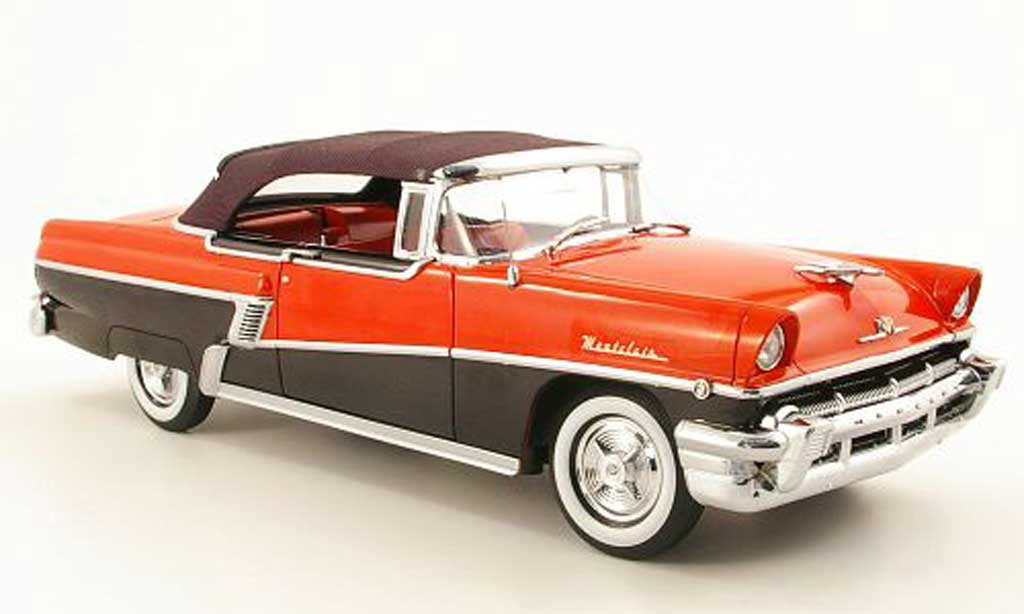 Mercury Montclair 1/18 Sun Star convertible rouge/noire geschlossen 1956 miniature