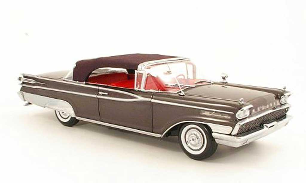 Mercury Parklane 1/18 Sun Star Convertible grise marron/noire geschlossen 1959 miniature