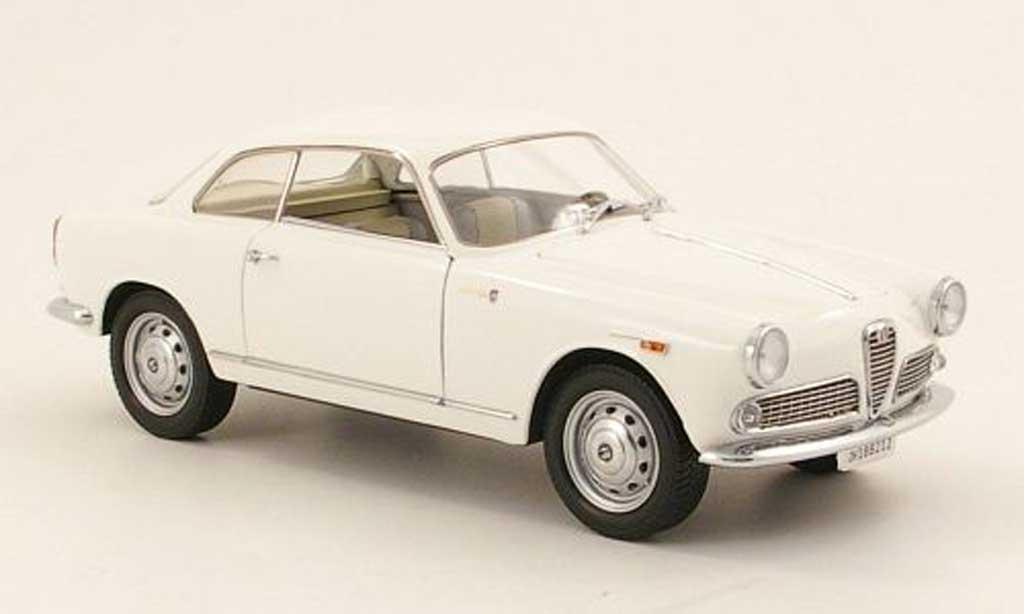 Alfa Romeo Giulietta Sprint 1/18 Mini Miniera 1300 blanco 1965 miniatura