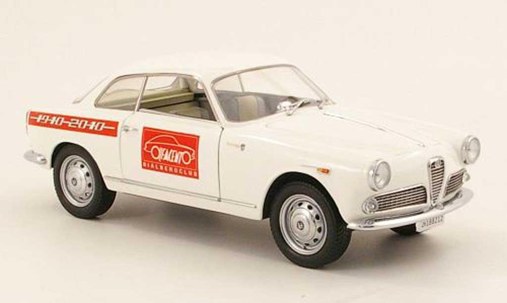 Alfa Romeo Giulietta Sprint 1/18 Mini Miniera blanco 100 jahre alfa romeo bialberoclub 1965 miniatura