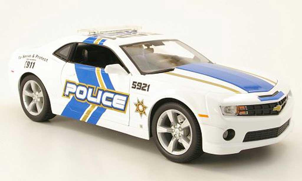 Chevrolet Camaro SS 1/18 Maisto amerikanische polizei 2010 miniature
