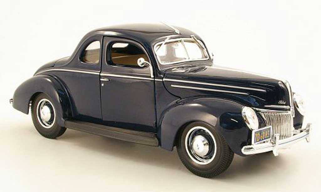 Ford Hot Rod 1/18 Maisto Deluxe Coupe bleu 1939 miniature