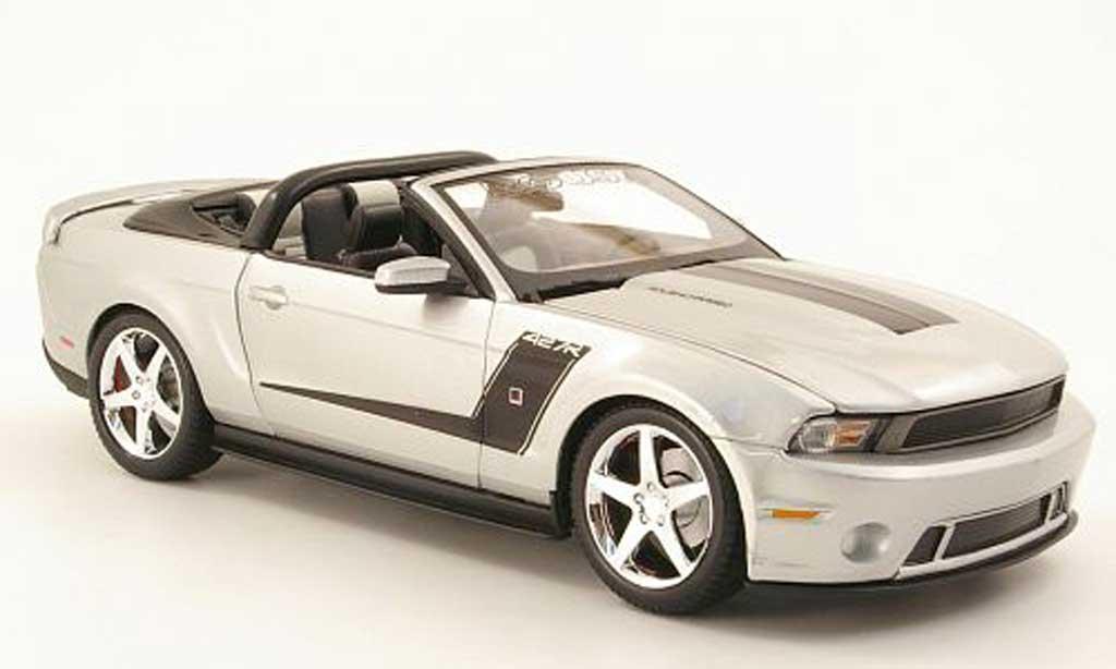 Ford Mustang 2010 1/18 Maisto roush 427r convertible gray metallisee/black diecast