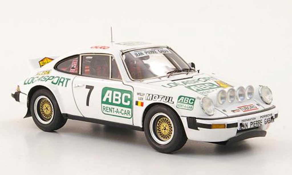 Porsche 930 1/43 Spark SC No.7 Locasport/ABC Rent-A-Car Rally Condroz 1981 miniature