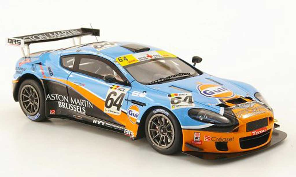 Aston Martin DBRS9 1/43 Spark No.64 Brussels Racing 24h Spa 2010 miniature