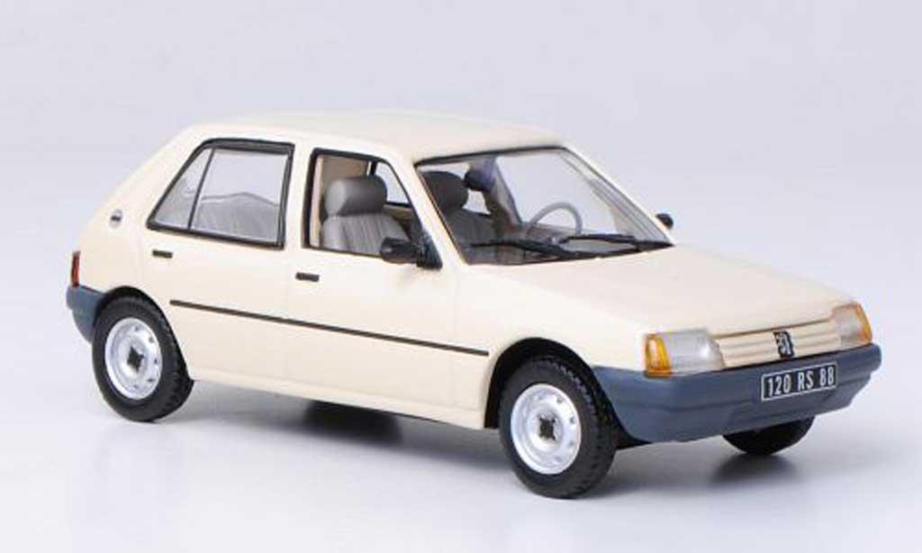 Peugeot 205 GL 1/43 Norev GL beige Vierturer 1988 miniature