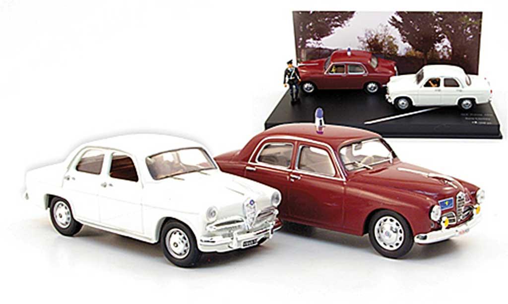 Alfa Romeo 1900 1/43 Rio Polizei und Giulietta plus Figur 1956 miniature