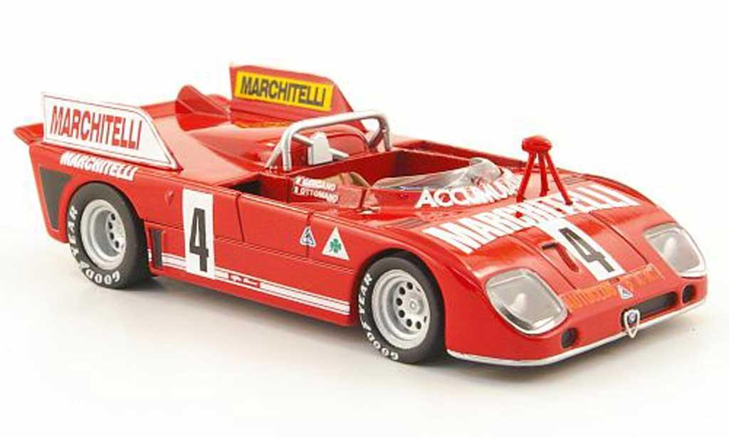 Alfa Romeo 33.3 1974 1/43 M4 TT 3 No.4 Marchitelli Targa Florio miniature
