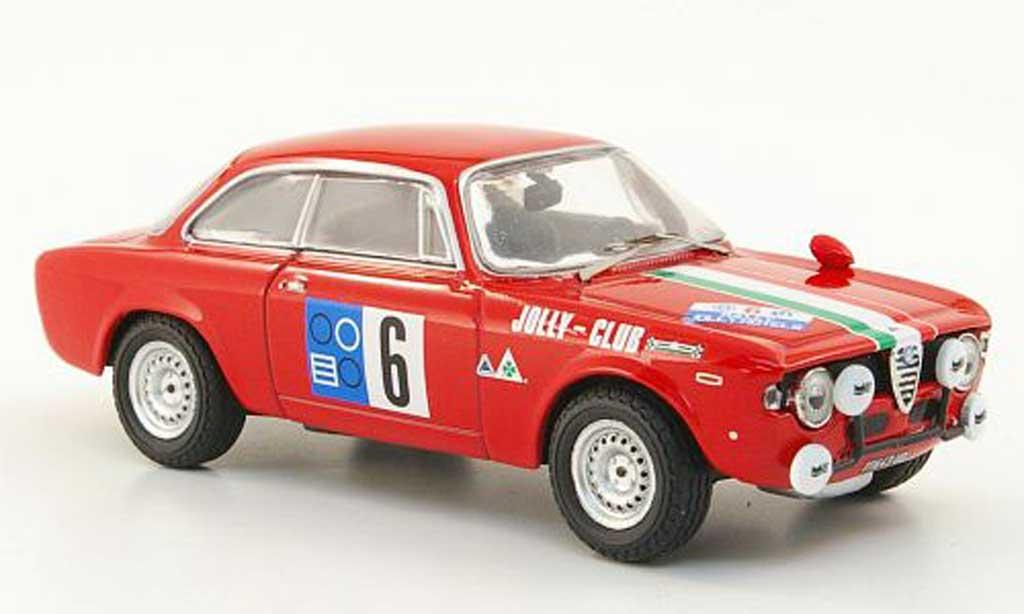 Alfa Romeo Giulia 1600 GTA 1/43 M4 No.6 Pergusa 1965 miniature